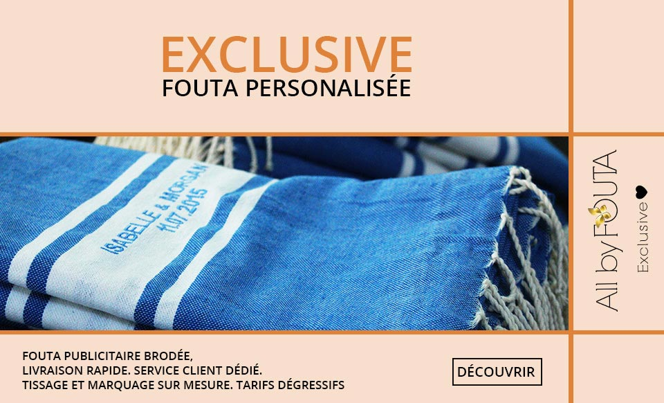 All by FOUTA Exclusive, fouta exclusive, serviette personnalisée, serviette brodée, fouta brodée, devis fouta brodée